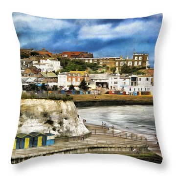 Seafront Broadstairs Kent Throw Pillow