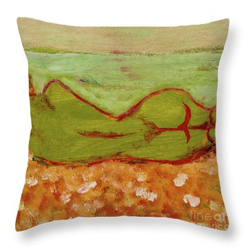 Seagirlscape Throw Pillow