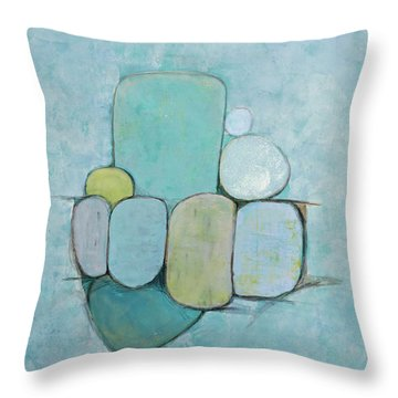 Seaglass 1 Throw Pillow