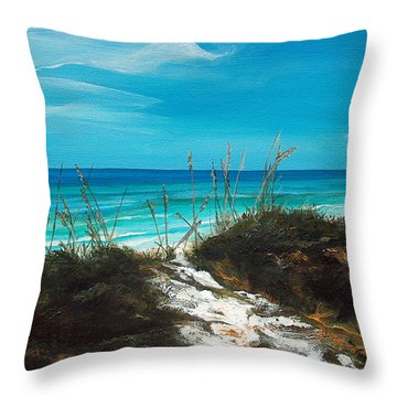 Seagrove Beach Florida Throw Pillow by Racquel Morgan