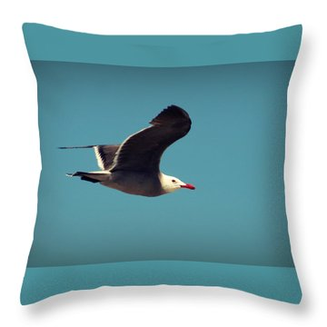 Seagull Aflight Throw Pillow