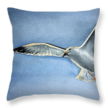 Seagull Throw Pillow by Eleonora Perlic