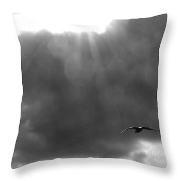 Seagull In The Light Throw Pillow by Karen Molenaar Terrell