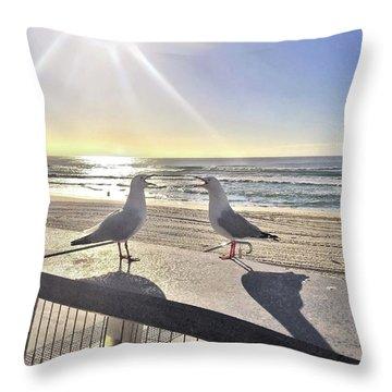 Seagull Sonnet  Throw Pillow