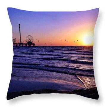 Seagull Sunrise Throw Pillow