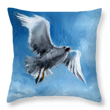 Seagull Throw Pillow by Synnove Pettersen