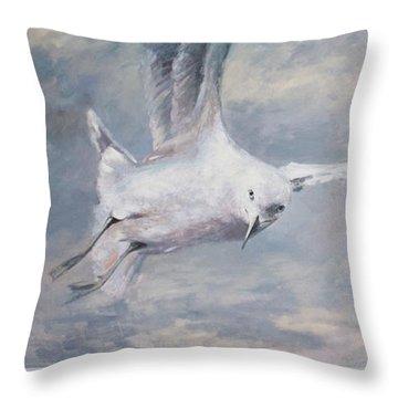 Seagull Throw Pillow by Vali Irina Ciobanu