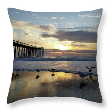 Seagulls And Salty Air Throw Pillow
