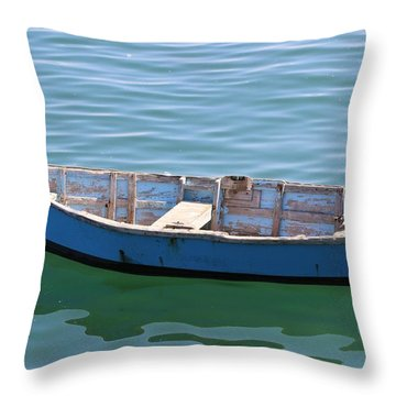 Seagull's Boat Throw Pillow