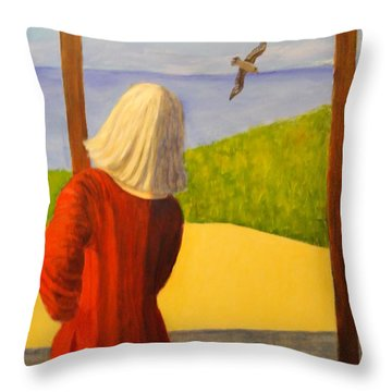 Seagulls - Bookcover Throw Pillow