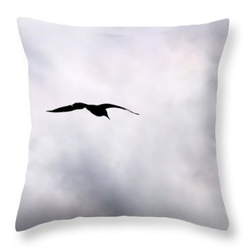 Throw Pillow featuring the photograph Seagull's Sky 2 by Jouko Lehto