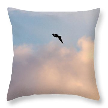 Throw Pillow featuring the photograph Seagull's Sky 3 by Jouko Lehto