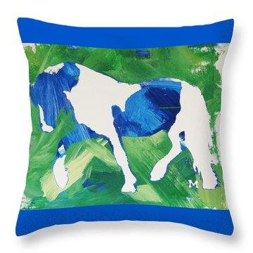 Seahawks Horse Throw Pillow