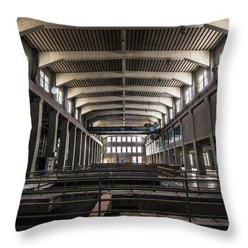 Seaholm Power Plant Throw Pillow