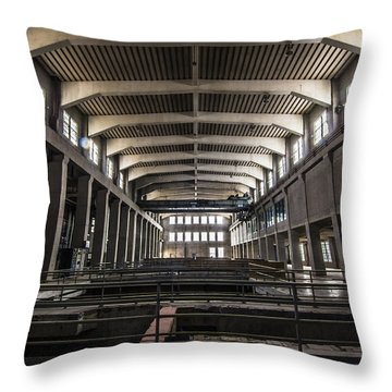 Seaholm Power Plant Throw Pillow