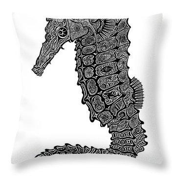 Seahorse Throw Pillow by Carol Lynne