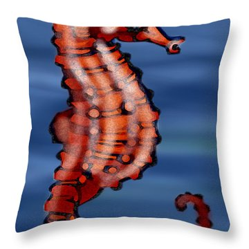 Seahorse Throw Pillow by Kevin Middleton