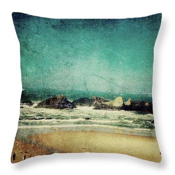 Seal Rock Throw Pillow
