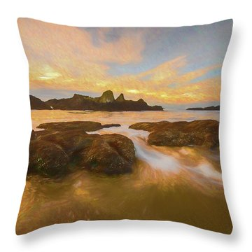 Seal Rock Sunset Throw Pillow