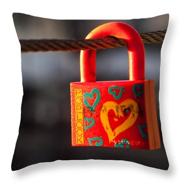 Sealed Love Throw Pillow
