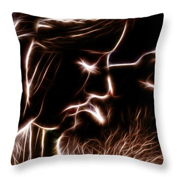 Throw Pillow featuring the digital art Sealed With A Kiss by Stephen Younts