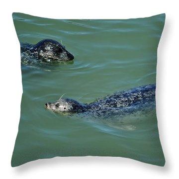 Sealion Friends Throw Pillow