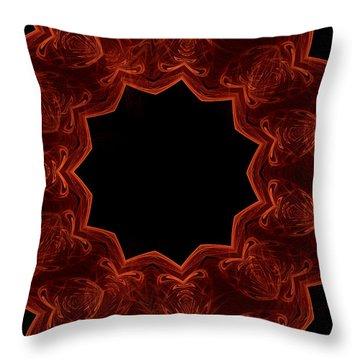Seamless Kaleidoscope Copper Saturated Throw Pillow