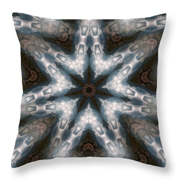 Seamless Mountain Star Throw Pillow