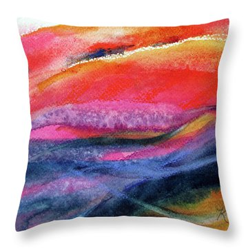 Throw Pillow featuring the painting Seams Of Color by Kathy Braud