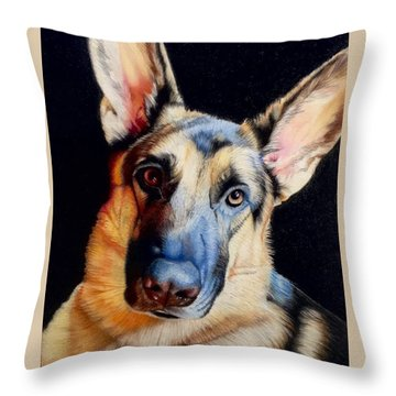 Seamus Throw Pillow by David Hoque