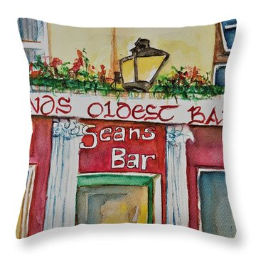 Seans Irish Pub Throw Pillow