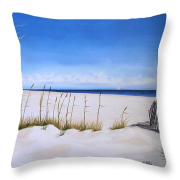 Seaoats Throw Pillow
