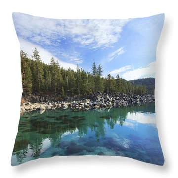 Throw Pillow featuring the photograph Search For Depth by Sean Sarsfield