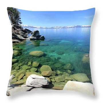 Search Her Depths Throw Pillow