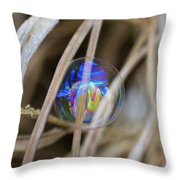 Searching For A New Rainbow Throw Pillow