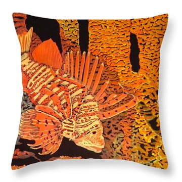 Searching Throw Pillow by Terry Honstead