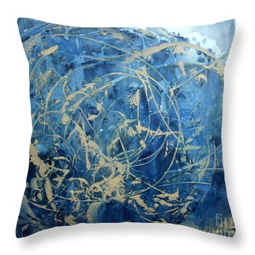 Searching Throw Pillow by Valerie Travers