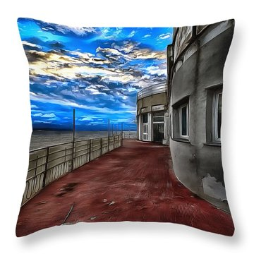 Seascape Atmosphere - Atmosfera Di Mare Dig Paint Version Throw Pillow