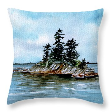 Seascape Casco Bay Maine Throw Pillow