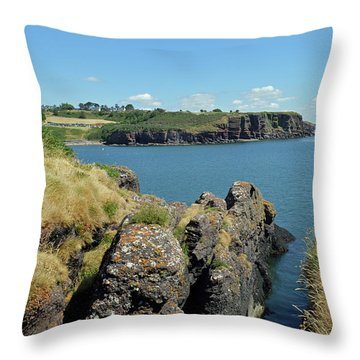 Seascape Dunmore East. Throw Pillow