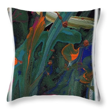 Throw Pillow featuring the painting Seascape Enhanced by Angela L Walker