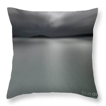 Throw Pillow featuring the photograph Seascape Mono by Craig B