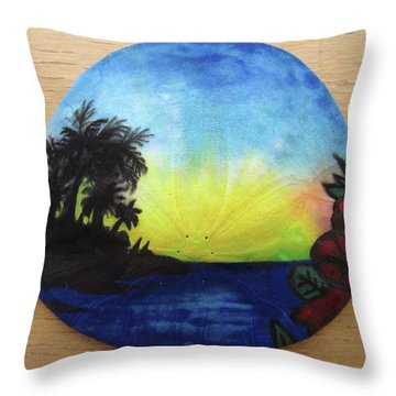 Seascape On A Sand Dollar Throw Pillow