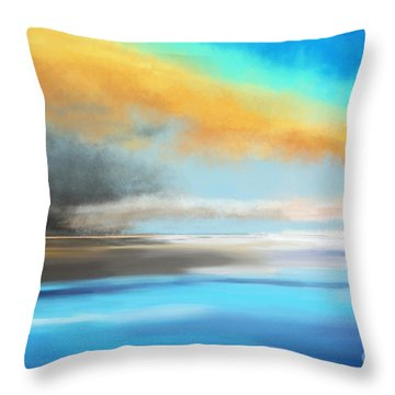 Seascape Painting Throw Pillow