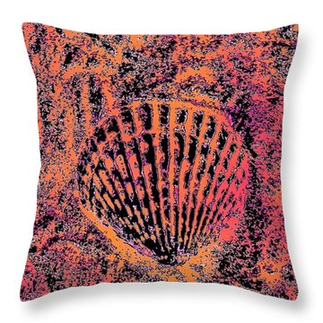 Seashell Delight Throw Pillow by Rachel Hannah