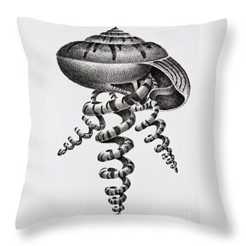 Seashell Forms Throw Pillow by James Williamson