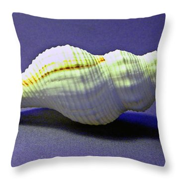 Seashell Fusinus Irregularis Throw Pillow by Frank Wilson