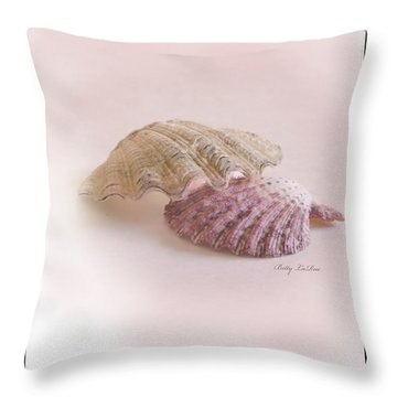 Seashell Love Throw Pillow by Betty LaRue