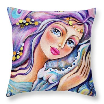 Seashell Reverie Throw Pillow