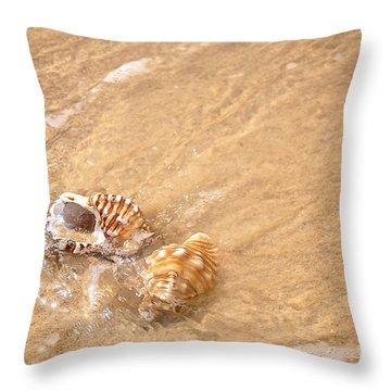 Seashell Turbulence Throw Pillow by Kaye Menner